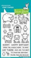 Lawn Fawn, clear stamp, hay there