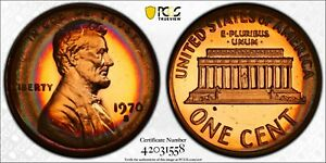 1970 S Lincoln Proof Penny PCGS PR66 RB Target Toned Large Date Registry Coin TV