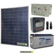 Kit placa solar panel fotovoltaico 200W 12V Batería 150Ah agm regulador de carga