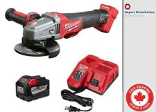 "New Milwaukee 9.0 Amp Starter Kit 2780-20 M18 FUEL 4-1/2"" / 5"" Grinder Cordless"