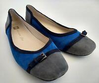 Anne Klein iflex Plural Womens Size 8.5M Blue Slip-On Ballet Flats Walking Shoes