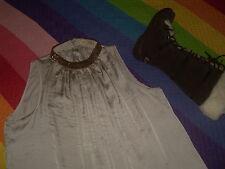BLUSON camiseta larga y ancha Carola miriam montes cuello collar abalorios M/L