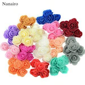 500Pcs Mini Rose Foam Flower Heads Artificial Handmade Flower Balls for Decors