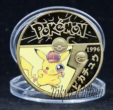 PIECE POKEMON DETECTIVE PIKACHU - GOLD METAL COIN - CARTE CARD - GO V3