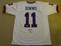 PHIL SIMMS SIGNED AUTO NEW YORK GIANTS WHITE JERSEY JSA AUTOGRAPHED