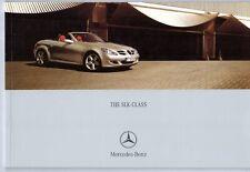 Mercedes-Benz SLK 2005-06 UK Market sales brochure 200K 280 350 55 AMG