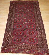 Antique Tekke Turkmen Rug With Salor Guls, Cochineal Colour, Circa 1890.