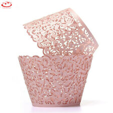 1/50 Filigree Vine Cupcake Wrappers Cases Laser Cut Wedding Birthday Decoration