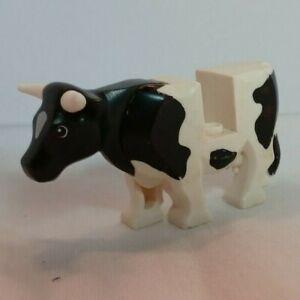 LEGO Rare Retired BLACK & WHITE COW ~ Minifigure Minifig City Farm Animal