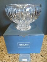 "Waterford Sheridan 9.5"" Crystal Footed Fruit Punch Centerpiece Bowl Marquis Box"