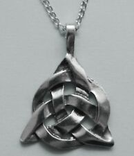 Chain Necklace #423 Pewter CELTIC TRIANGLE (40mm x 30mm)