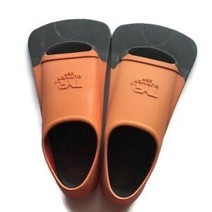 TYR Burner EBP Floating Short Blade Swim Fin Size Sz L Orange Black 9-11 (42-44)