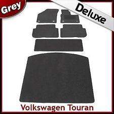 VW Touran Mk2 2010-2015 Totalmente a Medida De Lujo 1300g Alfombra Coche Alfombrillas De Arranque & Gris