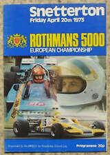 Snetterton 5000 euro championnat programme avr 1973
