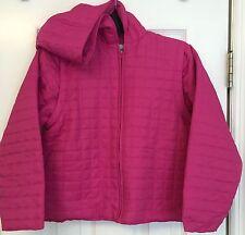 Lilly Pulitzer Girls Pink Quilted Jacket Coat Zip Off Sleeves Vest Hood 8 EC