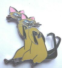 Disney Pin Badge Siamese Cats Si and Am from Lady and the Tramp