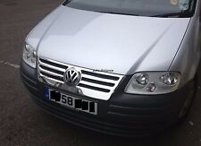 VW Caddy Front Grille Covers S.Steel 2005-2009