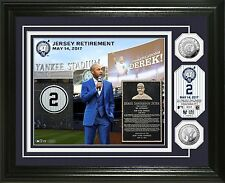 Derek Jeter #2 Jersey Retirement Ceremony Silver Coin Photo Mint - IN STOCK