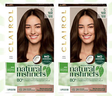 2 Clairol Natural Instincts Demi-Permanent Hair Color Crème 5 Medium Brown
