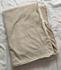 Gap Brown Bear Blanket Sherpa Tan Beige Light White Teddy Baby Security