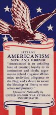 "Poster stamp, ""Americanism,"" United Spanish War Veterans Incorporated, MNH"