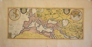 Grande Mappa cm. 124 per 65  Historicum pars occidentalis e pars orientalis -
