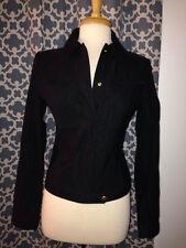 NWT Costume National Black Jacket Coat Size 42 US 4 6 Small NEW
