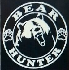 Bear hunter car window decal Hunting vinyl decal
