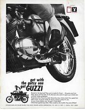 1966 Moto Guzzi 125 Sport  Motorcycle Bike Original Print Ad