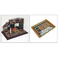 1:35 kits de modèle de construction de dioramas de bricolage, disposition de