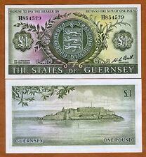 Guernsey, 1 Pound , ND (1969-1975), P-45 (45c), UNC