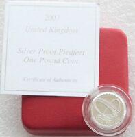 2007 Royal Mint Gateshead Bridge Piedfort £1 One Pound Silver Proof Coin Box Coa