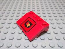 Lego 1 Schrägstein 3x4 33 Grad Seite offen beklebt rot 2513pb06 Set 6525 6571
