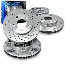 Brake Rotors FRONT+REAR ELINE DRILLED SLOTTED  -Toyota SIENNA 2004 - 2010