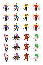 24 x Wiggles 8 Edible Image Cupcake Toppers Pre-Cut