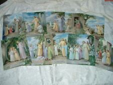 """Traditional Catholic TEN COMMANDMENTS Set of 10 Pictures 8x10"""" from Italy"""