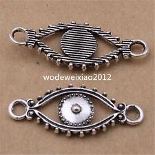 15pc Tibetan Silver Eye Connectors Charms Pendant Jewellery Accessories JP1102