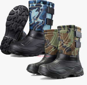 Mens Winter Waterproof Warm Snow Boot Outdoor Non-slip Fishing Boot Cotton Shoes