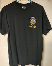 NYPD Short Sleeve T-Shirt with Embroidered Logo Navy Large used see pics (L)