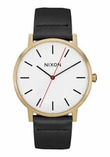 Nixon Men's Porter A10583157-00 40mm White Dial Leather Watch