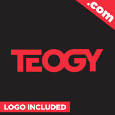 Teogy.com - Cool brandable domain name for sale PREMIUM LOGO One Word 5 Letter