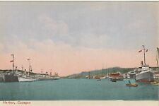 circa 1910 view of the Harbor, Curacao, Netherlands Antilles/Dutch West Indies