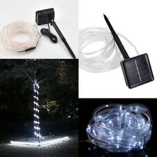 7m 50LED Solar Rope Strip Light Flashing Daylight Waterproof Outdoor Party Decor