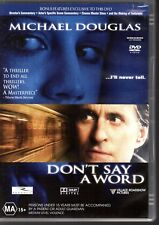 DON'T SAY A WORD - DVD R4 (2010) Michael Douglas  LIKE NEW - FREE POST
