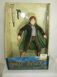 """Lord of the Rings SAM GAMGEE Poseable Action Figure 8"""" MINT IN BOX"""