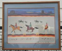 """JUSTIN TSO """"THE RACE IS ON"""" Vintage Print 93/300. 25"""" X 21"""""""