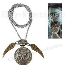 Harry Potter Pet Owl Pocket Watch Metal Pendant Necklace NIB #02