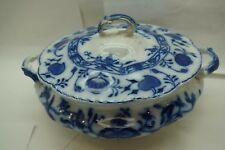 JOHNSON BROTHERS HOLLAND FLOW BLUE ROUND COVERED CASSEROLE VEGETABLE DISH LID