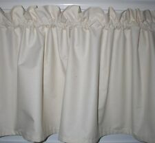 "43""W Natural Muslin Door Valance Super Weight Cotton Classic Country Curtains"