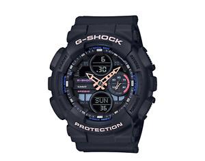 New Casio G-Shock GMAS140-1A S Series Ana-Digital Black Resin Ladies Watch